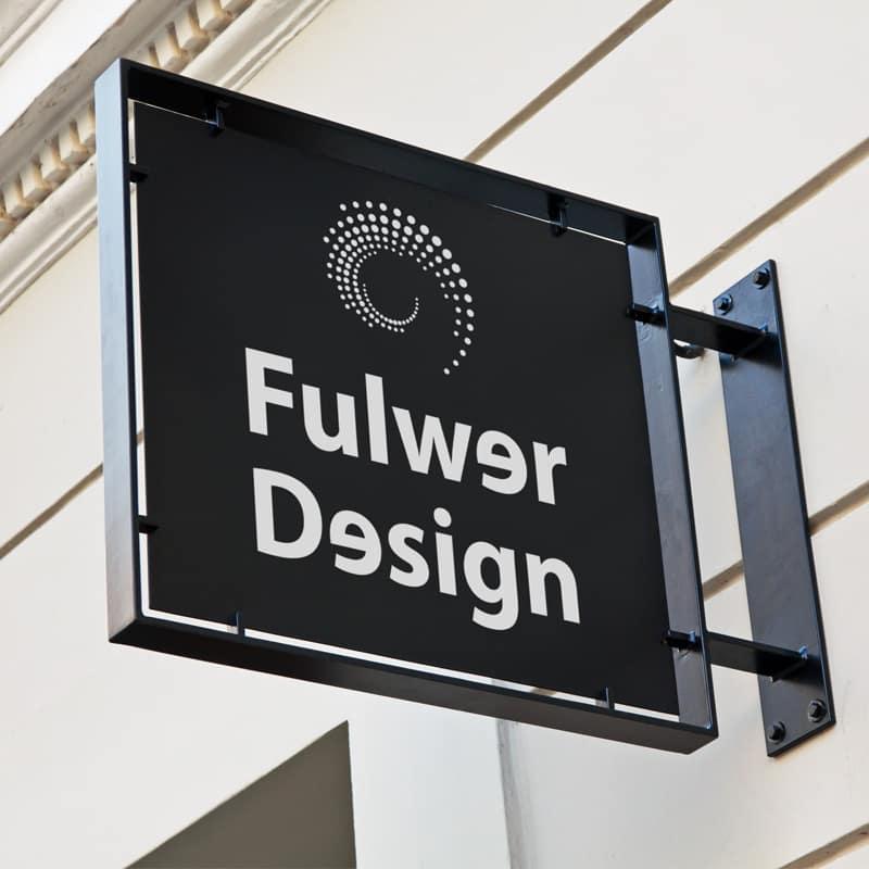 Insegna Copisteria Torino Fulwer Design